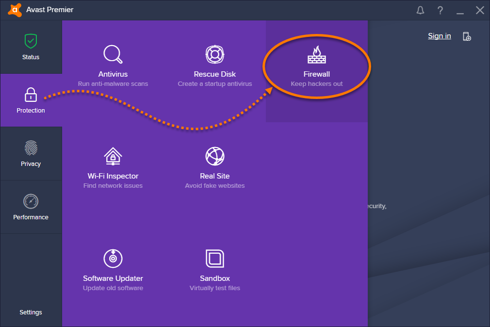 how to stop internet connection of application using firewall