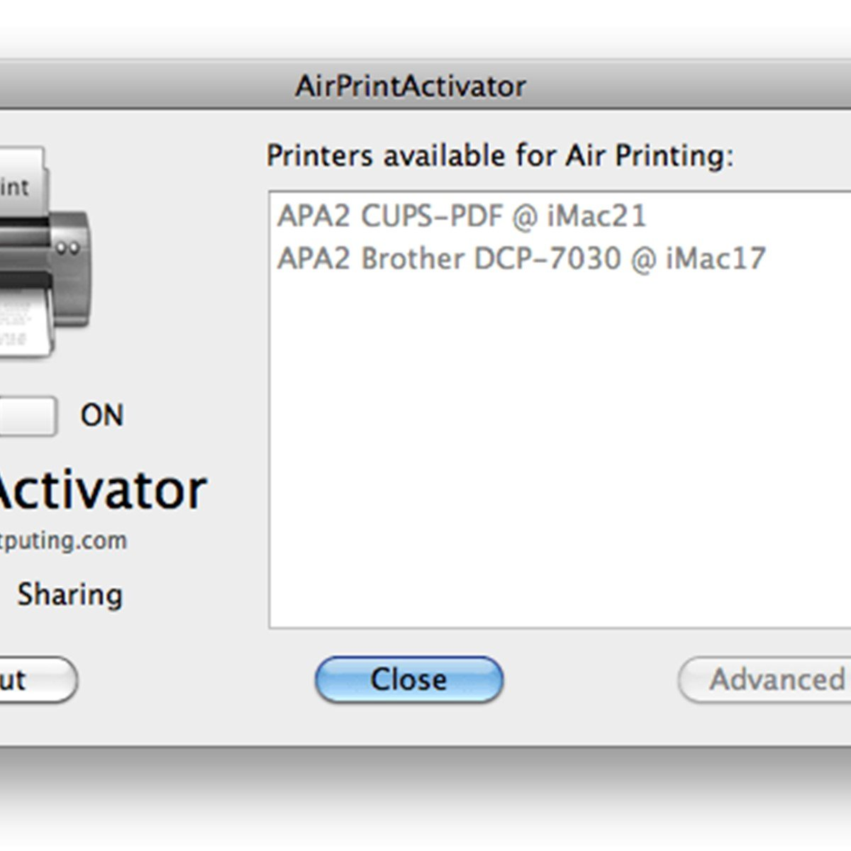 print from web application to local printer