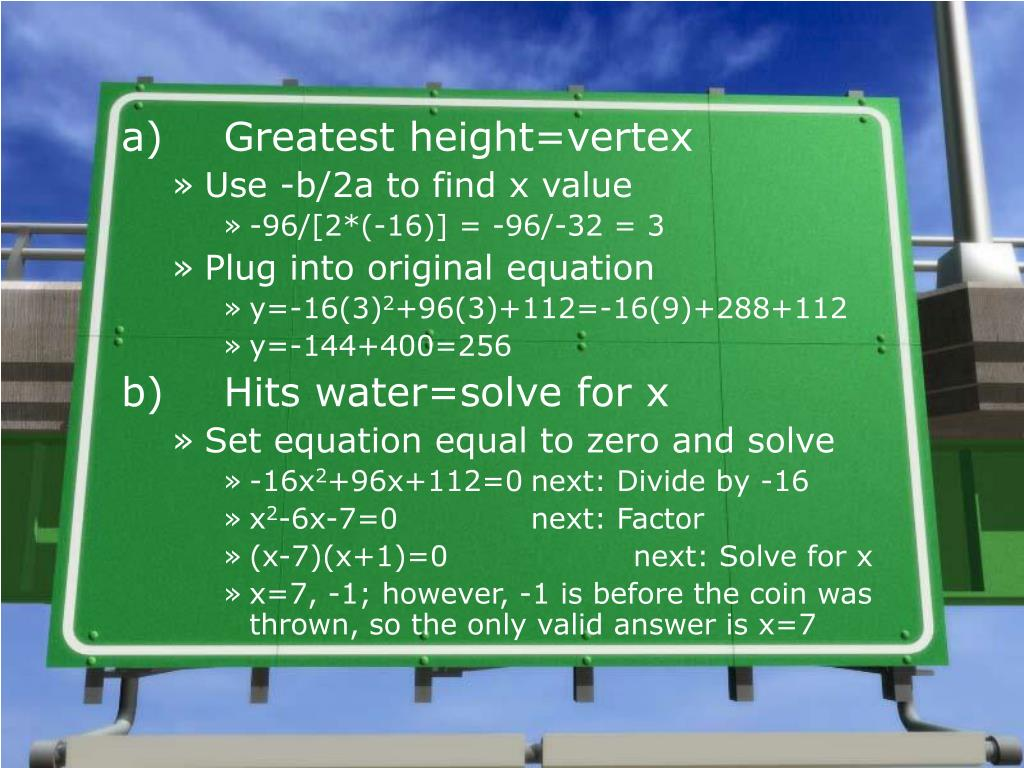 application of quadratic equation in real life ppt