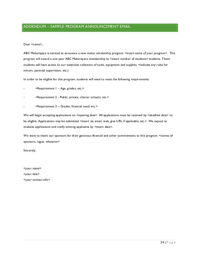 email for scholarship application sample