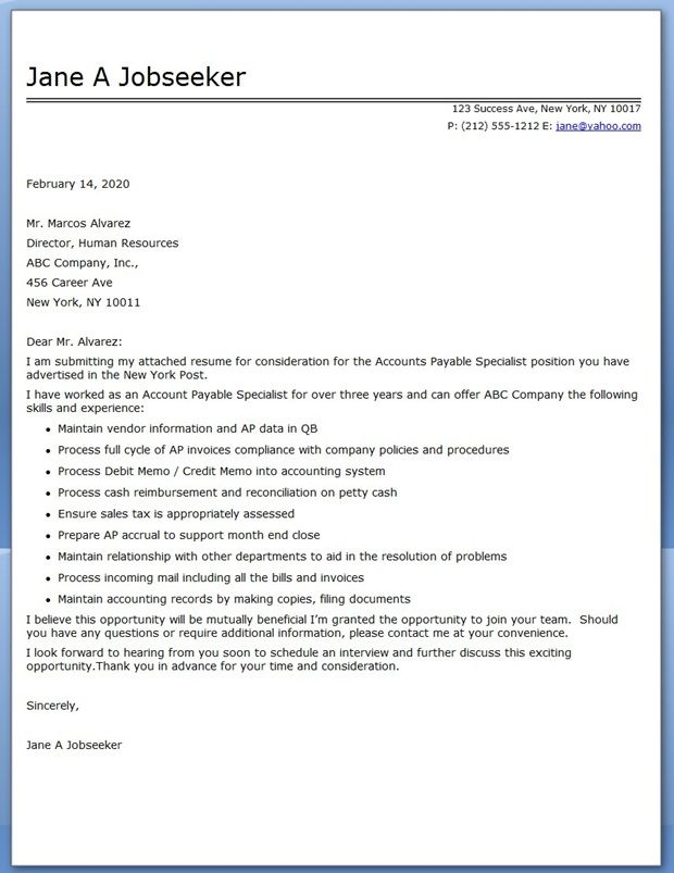 application letter for financial analyst