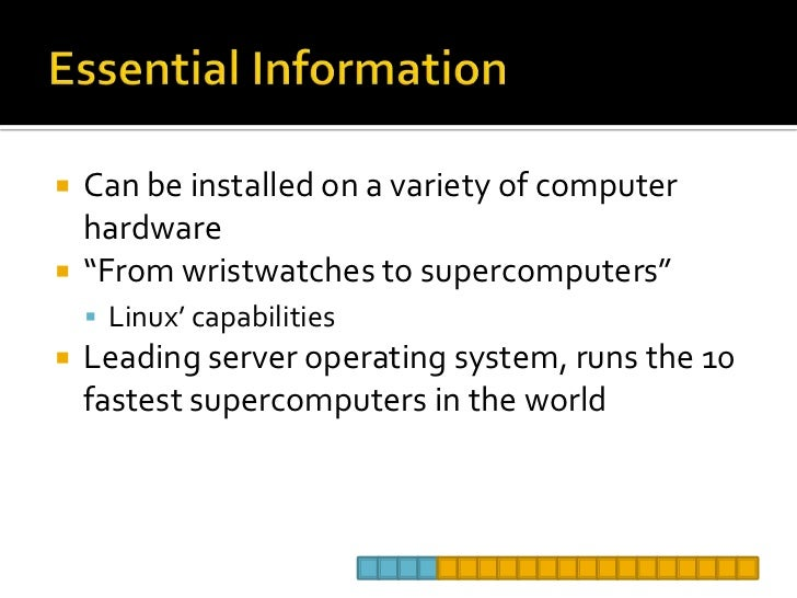 application of linux operating system
