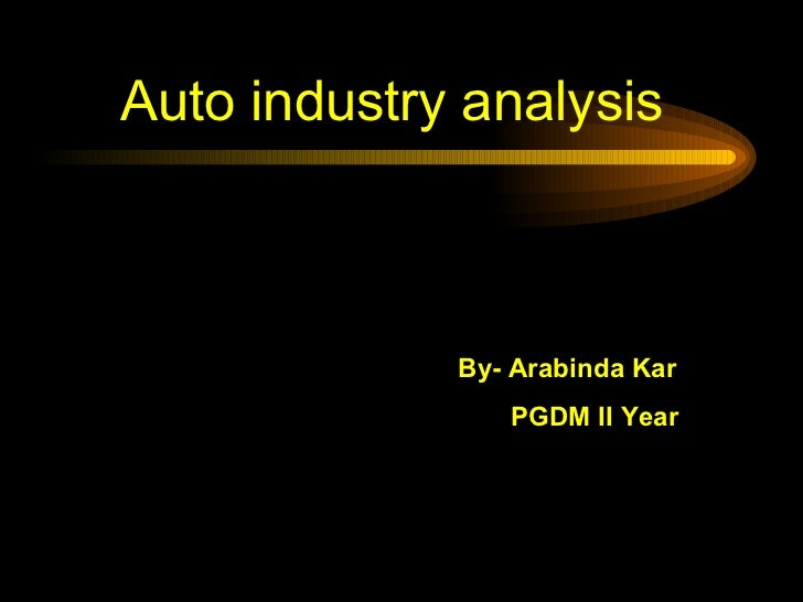 application of robots in automobile industry ppt