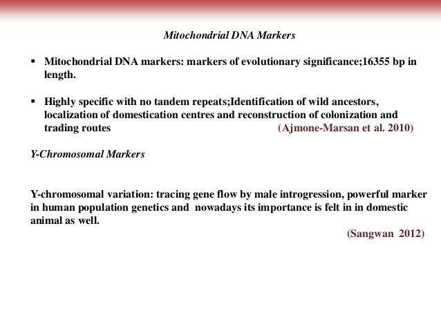dna markers and their application
