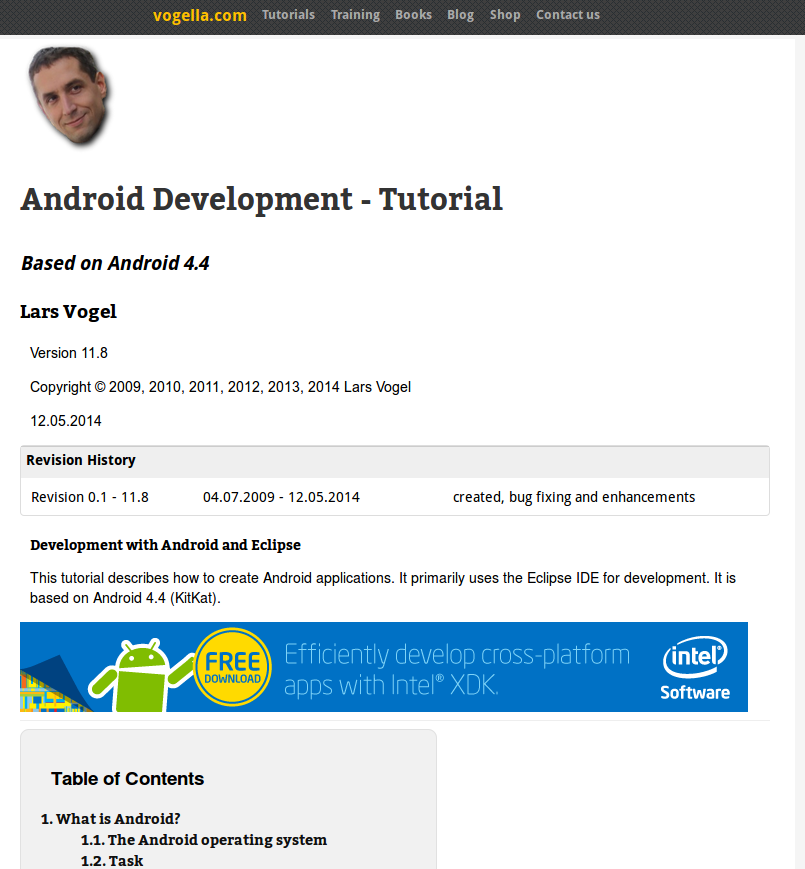 android application development tutorial for beginners