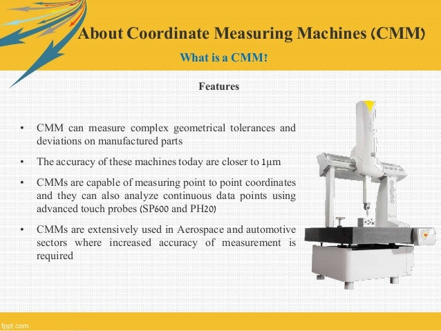 application of coordinate measuring machine ppt